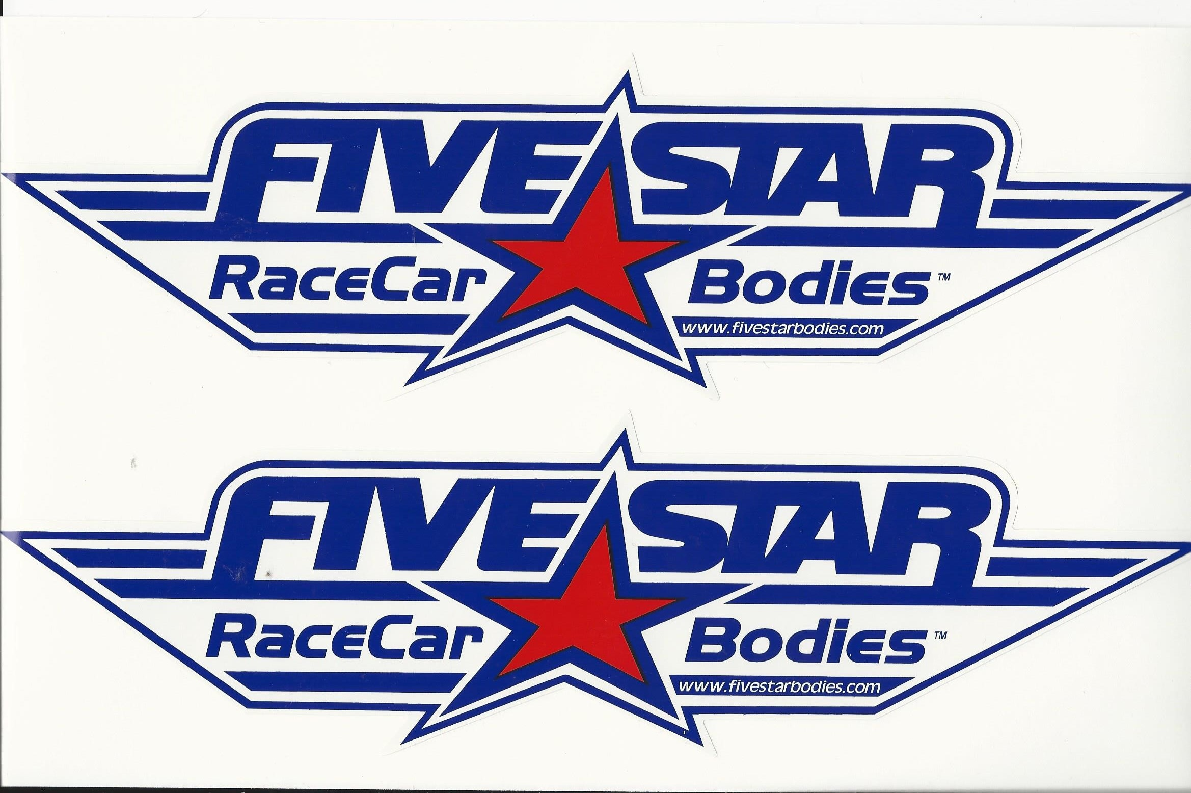 License Plate Holders >> Five Star Bodies Racing Decal 1 foot Long | CrashDaddy Racing Decals