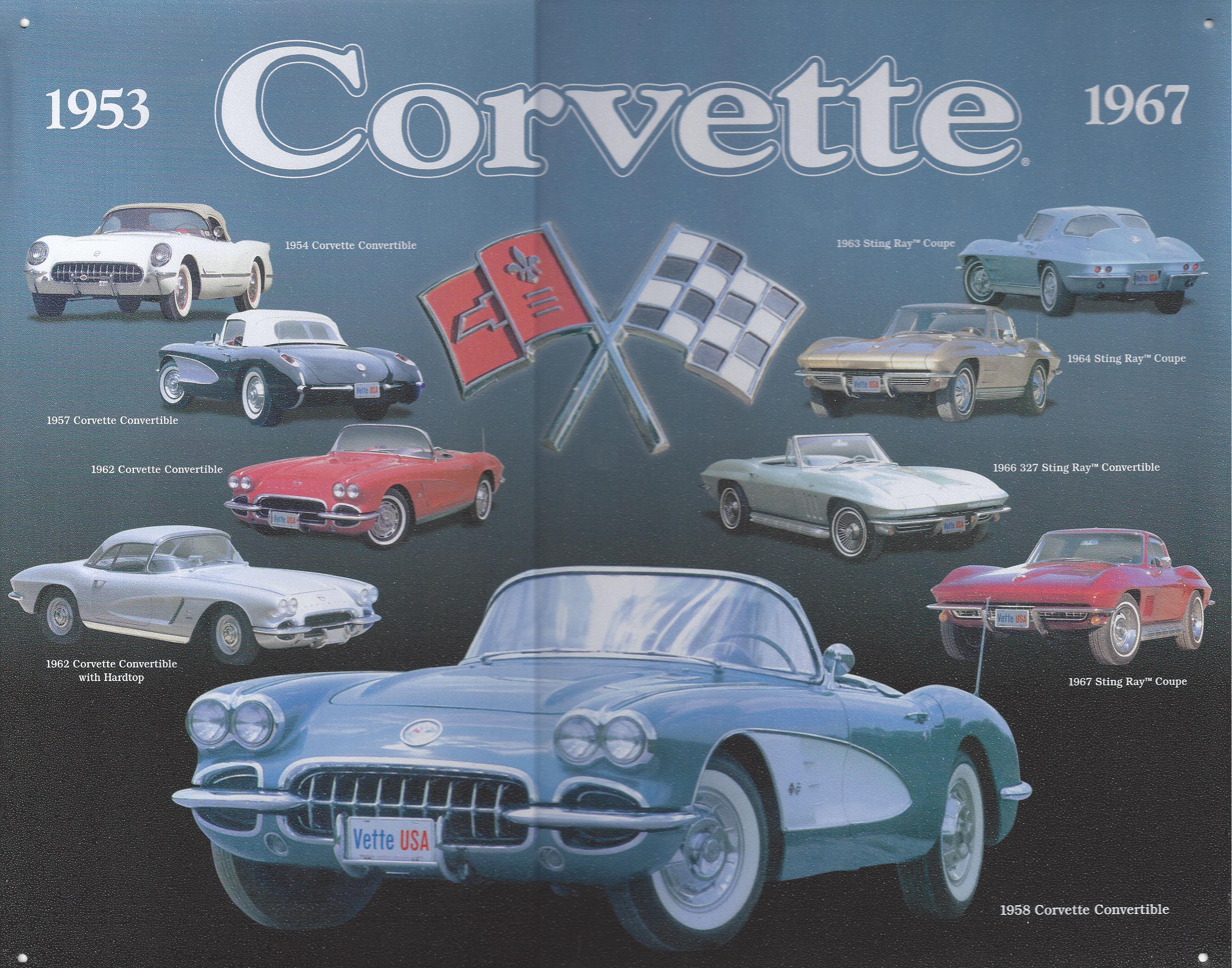 Chevy Corvette 1953 1967 Metal Sign Retro Crashdaddy